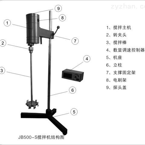 南汇JB500-S数显电动搅拌机