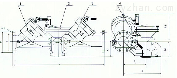 HS41X防污隔断阀结构图: