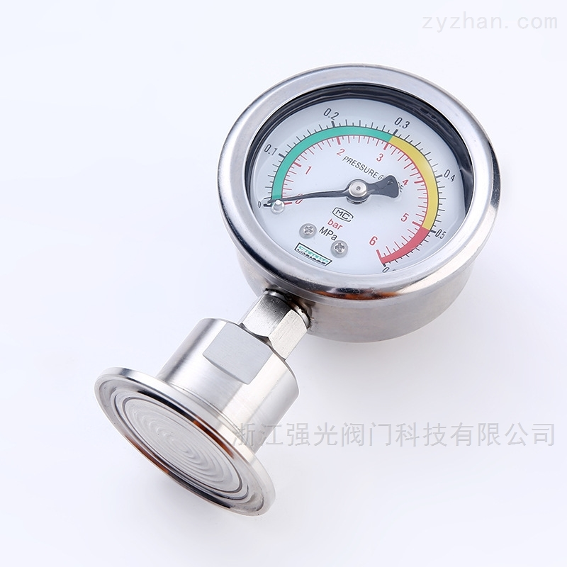 卡箍式隔膜壓力表