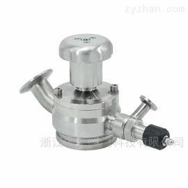 QGZXV带取样卫生级径向罐底隔膜阀